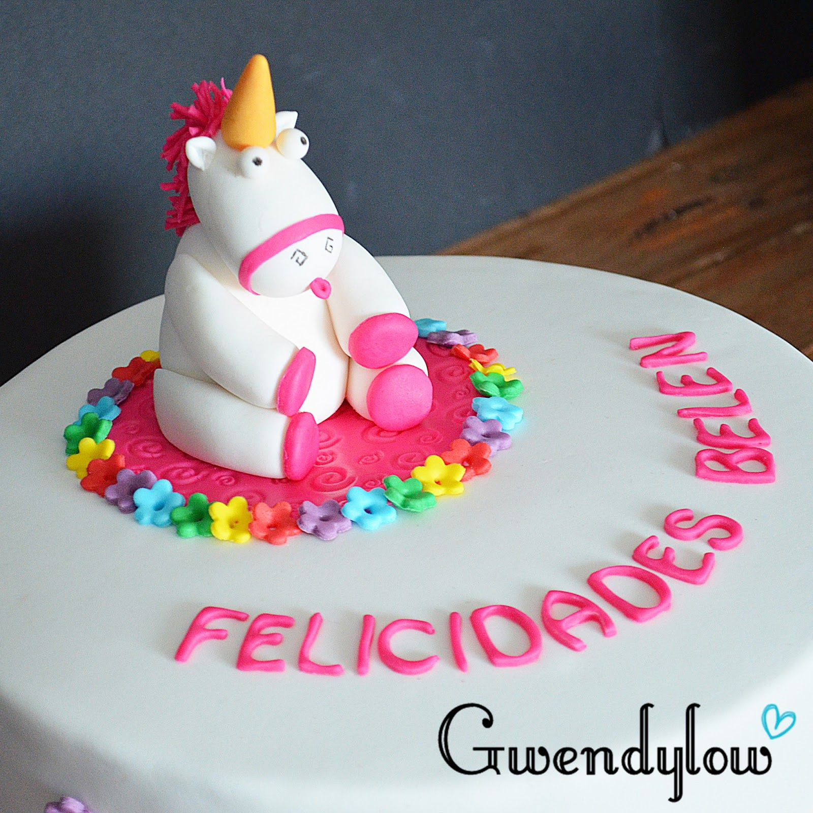 Receta pastel unicornio