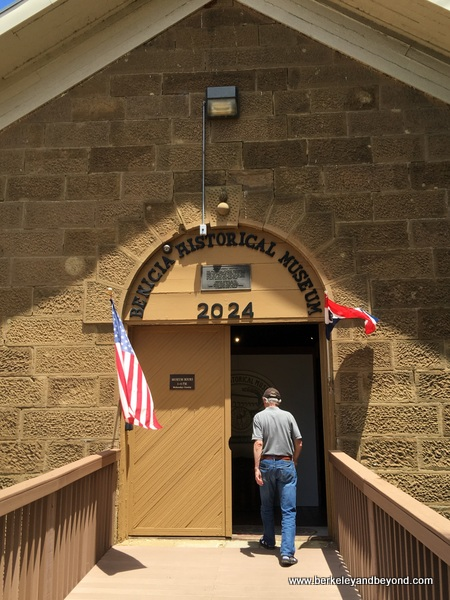 entrance to Benicia Historical Museum at the Camel Barns in Benicia, California