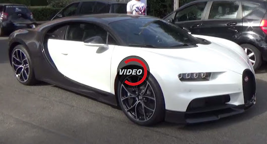 White And Black Bugatti Chiron Lands In Cannes