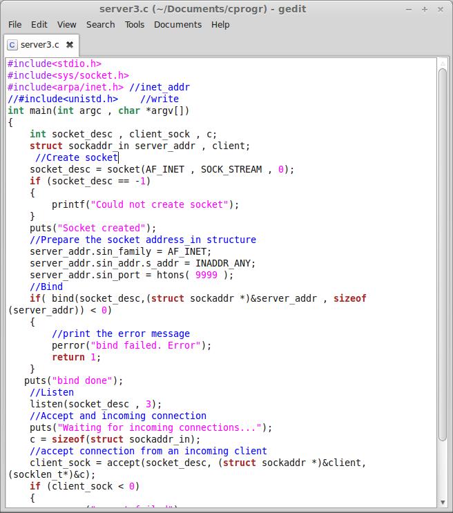 Socket programming using c++ (Connection Establishment