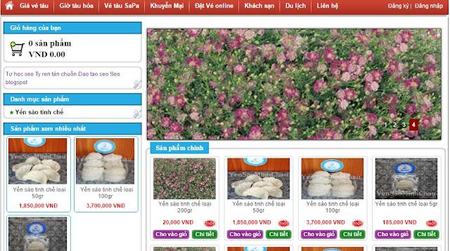 Share template blogspot bán hàng yến xào