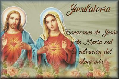 Resultado de imagen para oraciones a Jesús y María