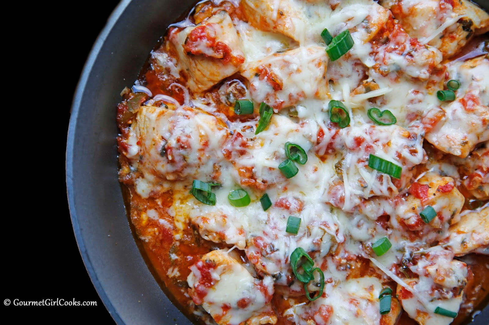 Gourmet Girl Cooks Mexican Style Skillet Chicken Quick Easy Low