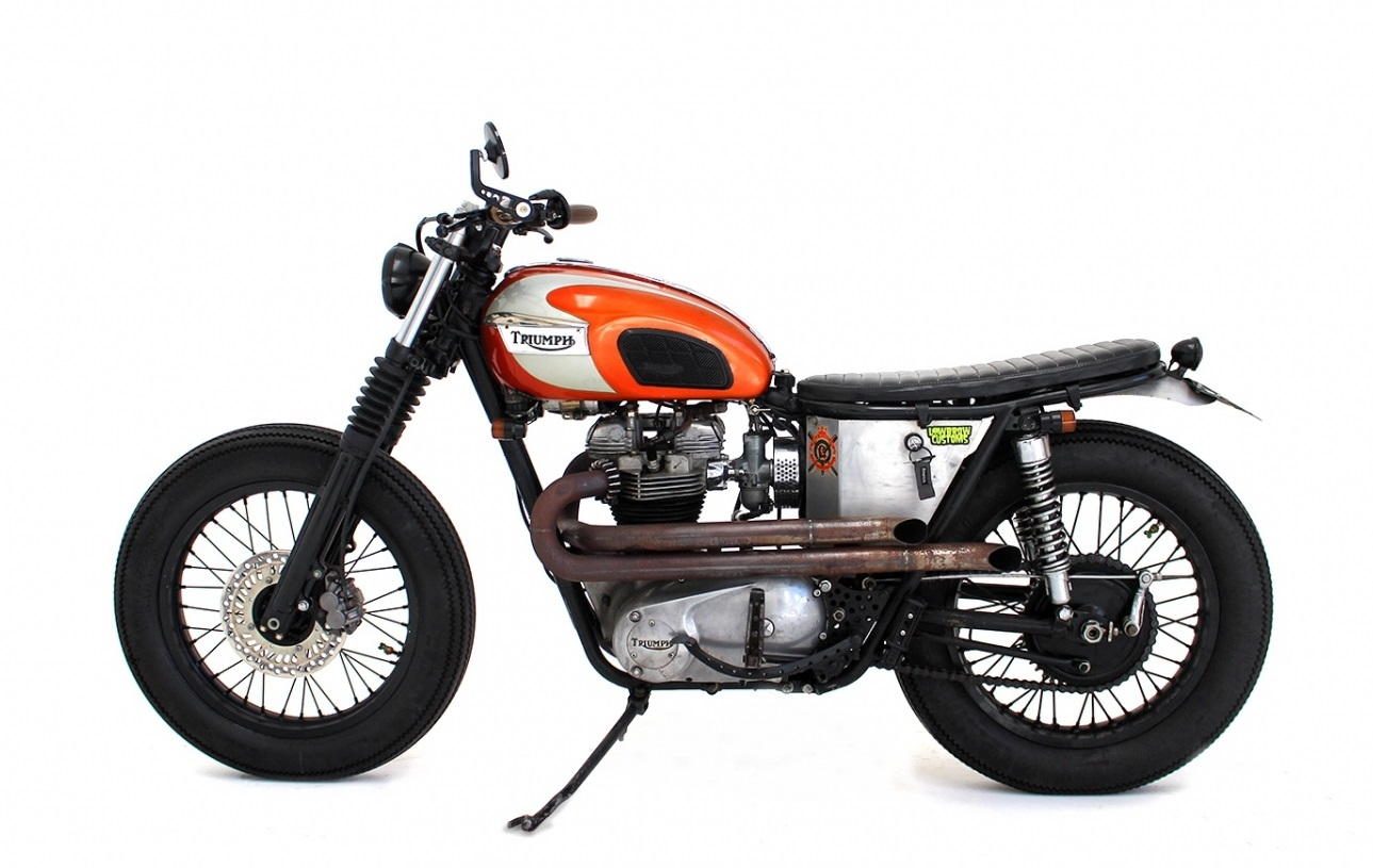 hell kustom triumph t120 1970 by herencia custom. Black Bedroom Furniture Sets. Home Design Ideas