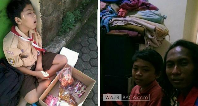 Bikin Nangis Lihat Kondisi Keluarga Abil, Anak SD yang Berjualan Masih Berseragam