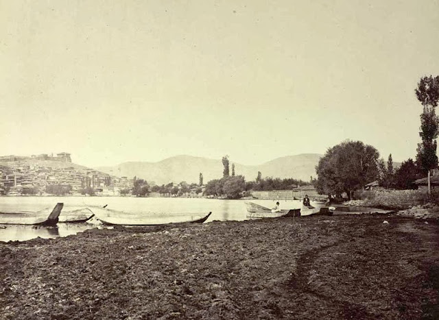 Ohrid view from the southeast End of September 1863 02 - Macedonia in 1863 - Photo Collection of Josef Székely