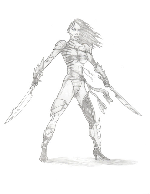 Female Arena Sword Fighter