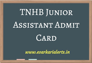 TNHB Junior Assistant Admit Card 2017