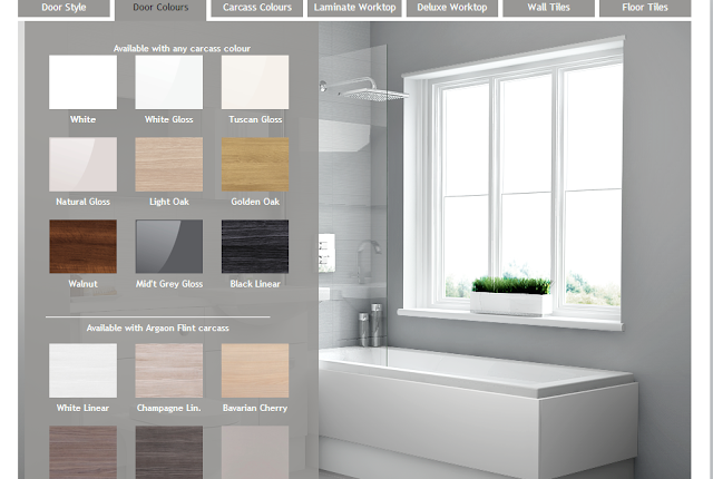 Visualise Bathroom Planner design choices