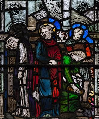 Imagem de São Pedro quando nega Jesus três vez, vitral, #1