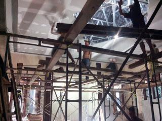 Pemasangan plafon gypsum board di masjid
