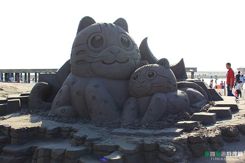 [臺灣.臺中] 海洋世界為主題的中大型沙雕 大安濱海國際沙雕展