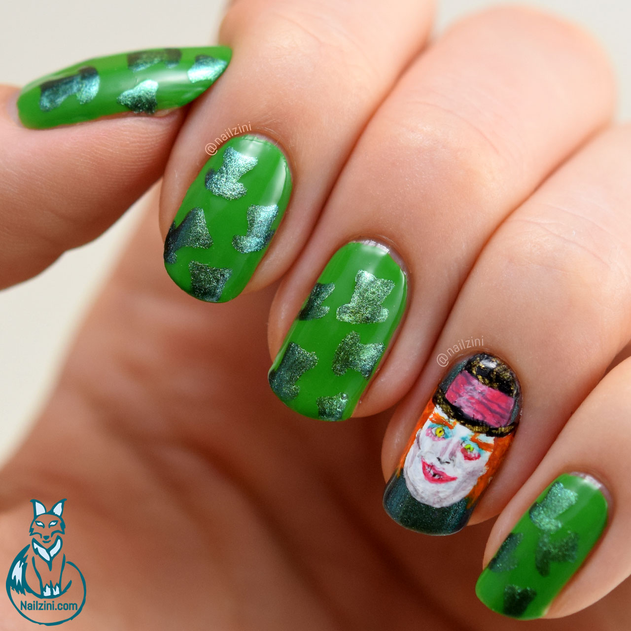 Alice Through The Looking Glass - Mad Hatter | Nailzini: A Nail Art Blog