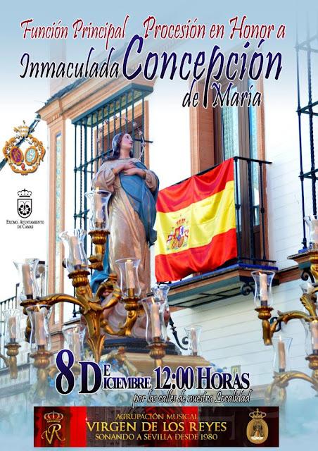 Procesión en Honor a la Inmaculada Concepción en Camas