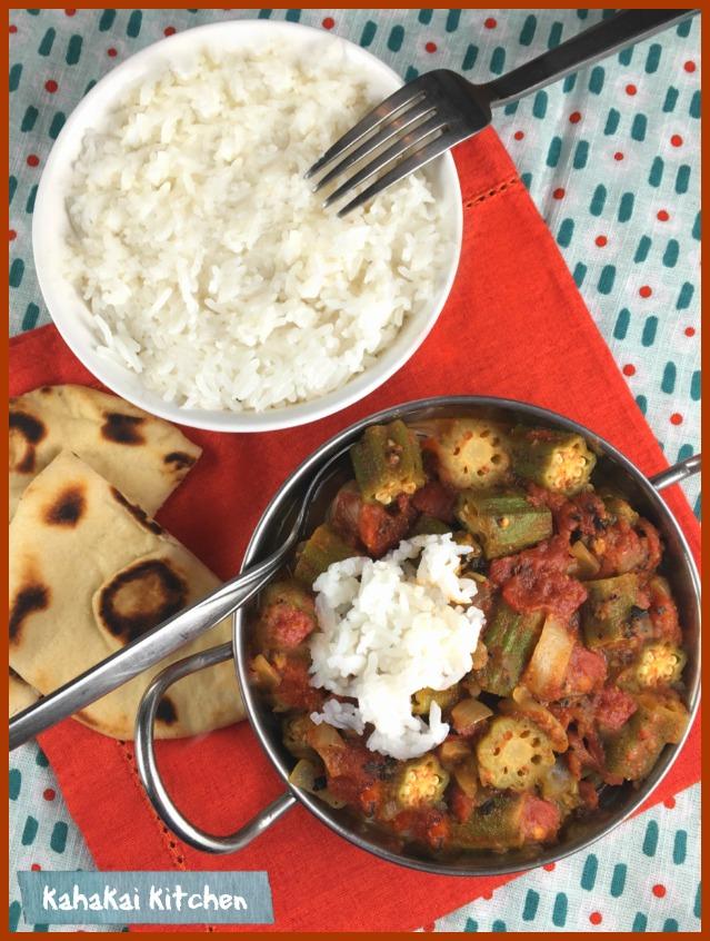 Kahakai Kitchen: Bamia (Okra Stew) for Cook the Books: