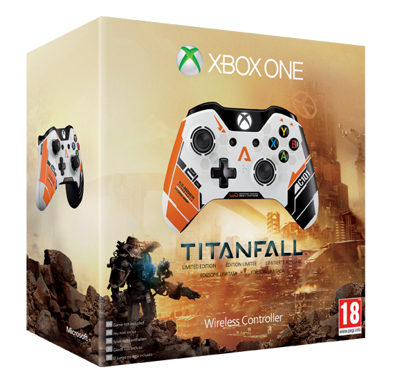Photo du packaging de la manette Édition limitée Titanfall