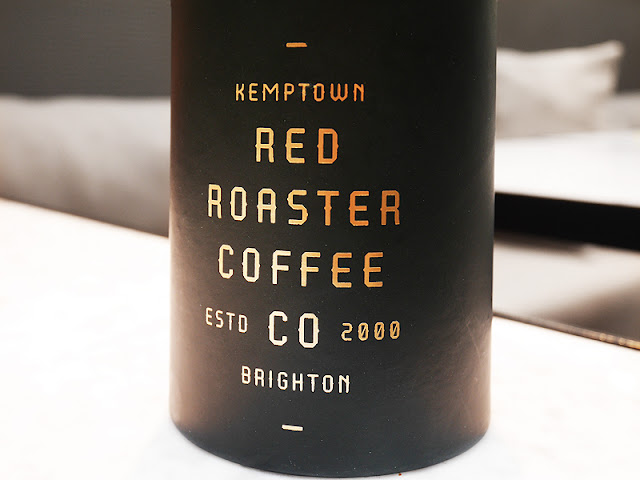 coffee packaging at Red Roaster Brighton