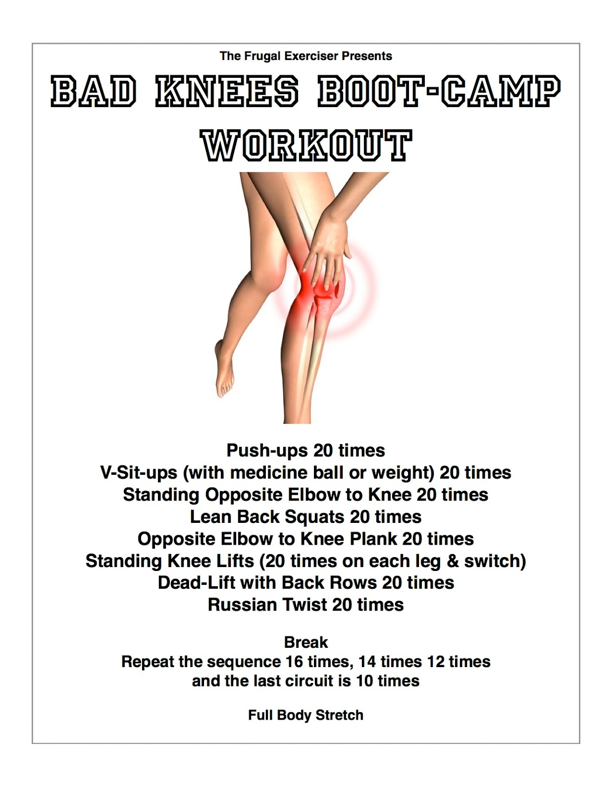 boot camp workout exercises pdf
