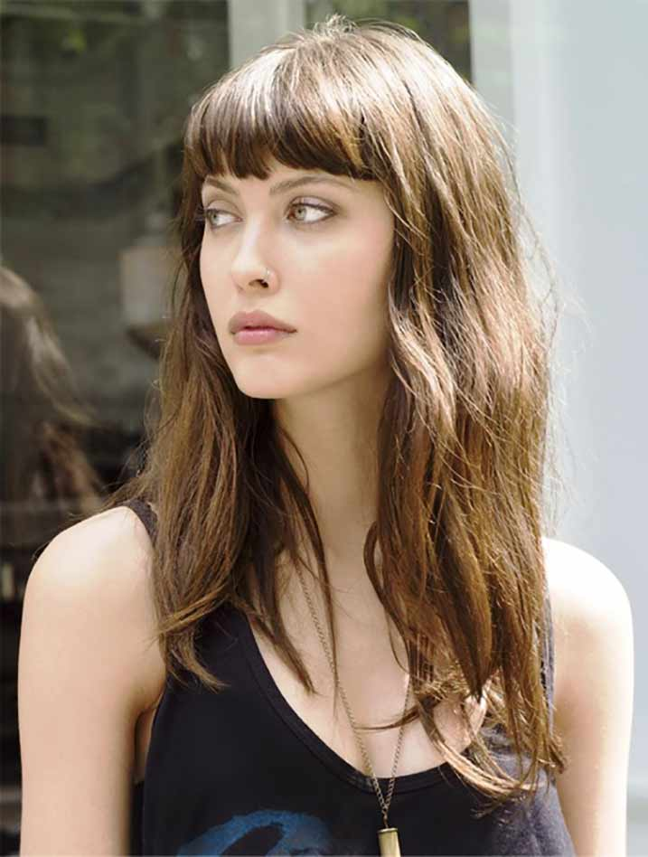 Go Gala With Fringe Hairstyles Muvicut Hairstyles For Girls