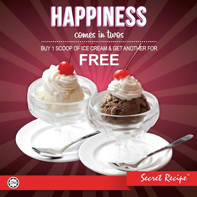 Secret Recipe Malaysia Ice Cream Buy 1 Free 1 Scoop Promo