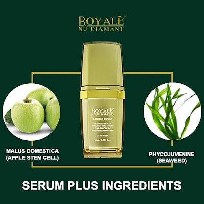 royale nu diamant, serum royale nu diamant, serum apple stem cell, serum jeragat, produk rawat jeragat, review royale nu diamant, Royale Nu Diamant Serum Plus+