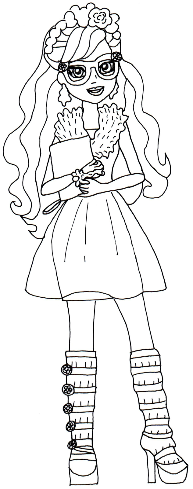 Free Printable Ever After High Coloring Pages Rosabella Beauty Ever After High Coloring Page