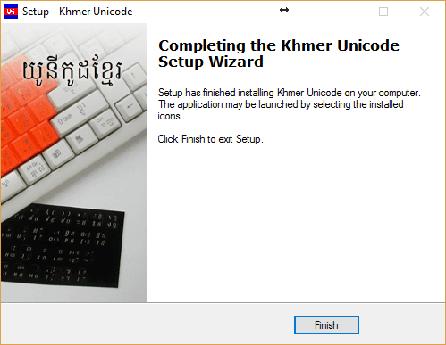 install khmer unicode on windows 10