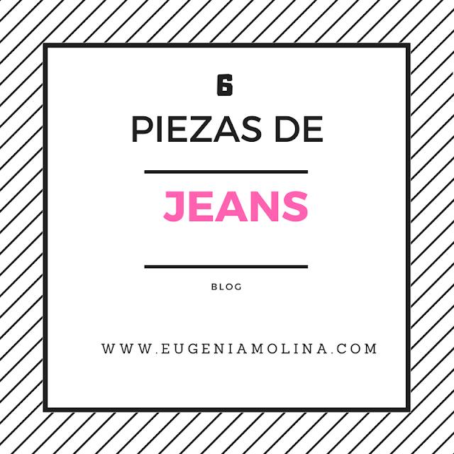 6 piezas de jeans de moda