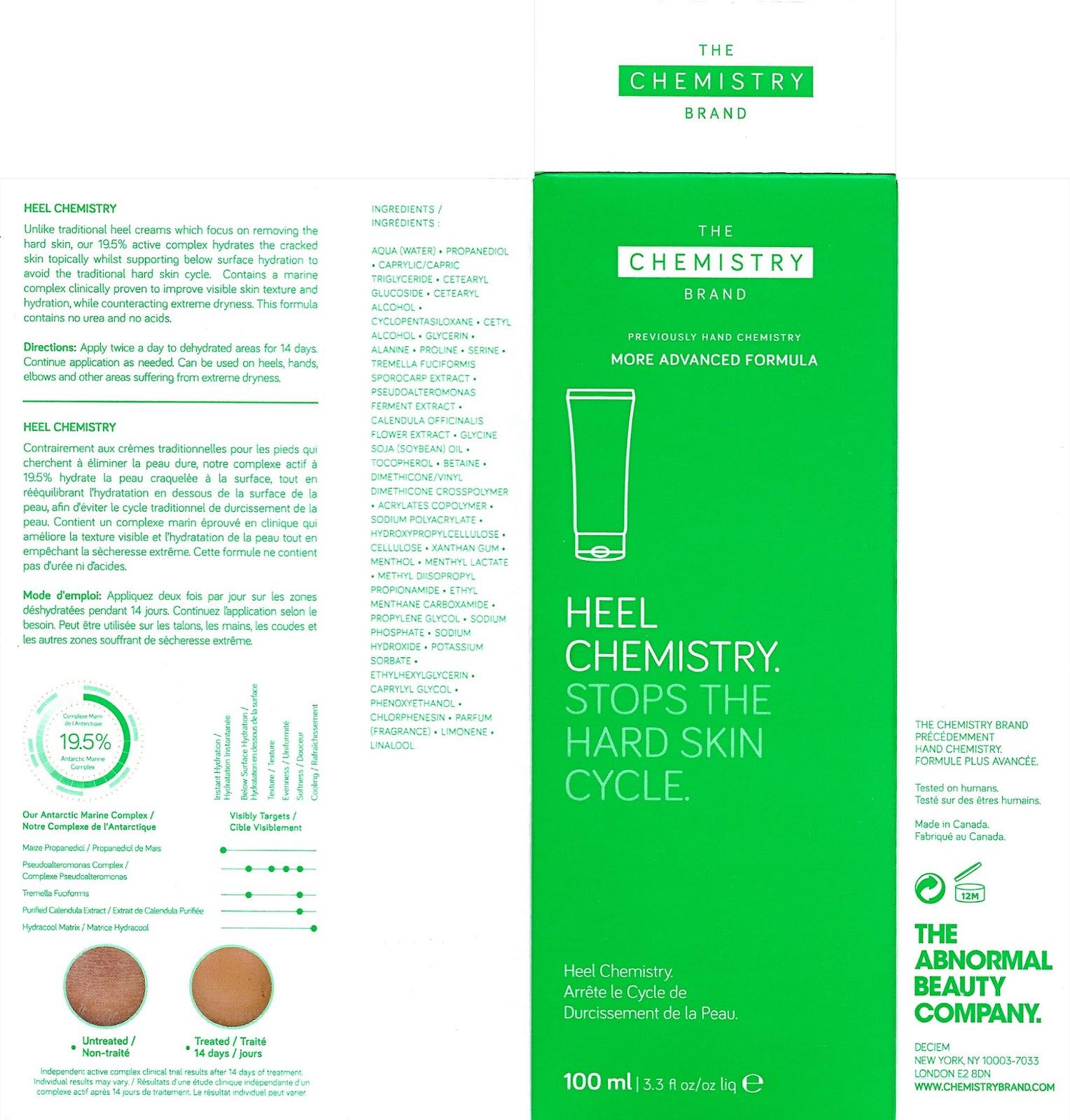 lavlilacs The Chemistry Brand Heel Chemistry packaging