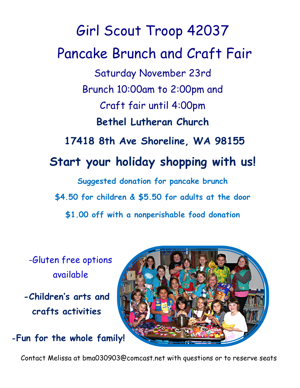 Shoreline Area News Girl Scout Brunch And Craft Fair Saturday