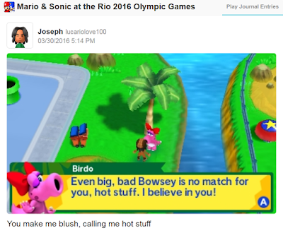 Mario & Sonic at the Rio 2016 Olympic Games 3DS Birdo big bad Bowsey story mode