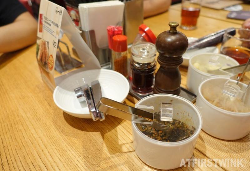 ippudo admiralty hong kong ramen restaurant condiments
