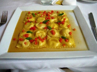 ravioles rellenos de quinua y verdura