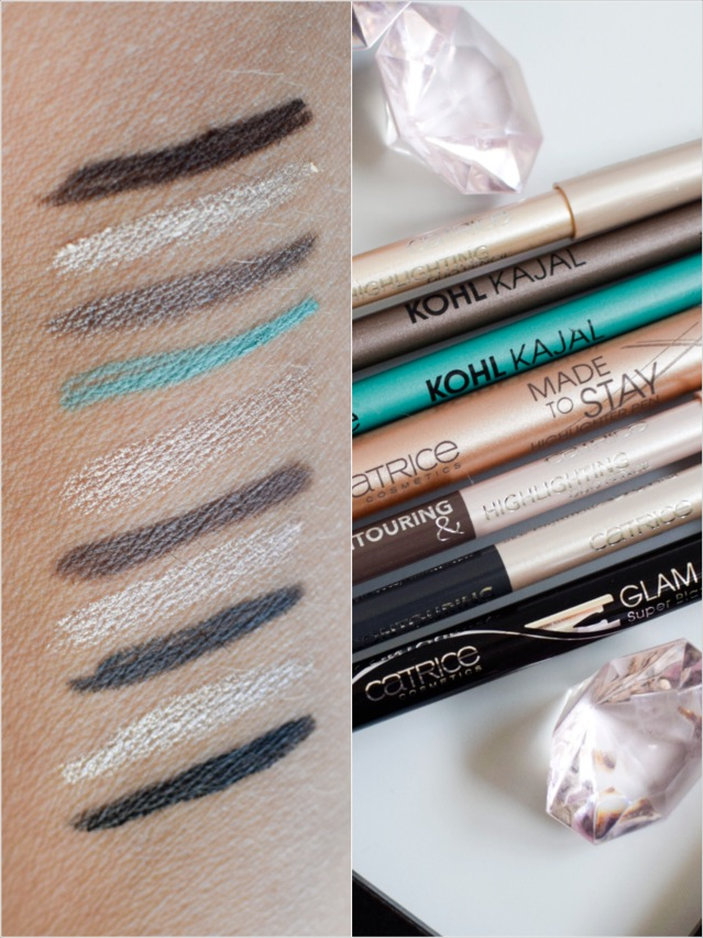 catrice Sortimentsupdade Herbst Winter 2016, swatch, alle Liner