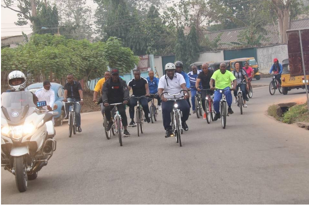 Abia-governor-rides-bicycle-through-the-streets-of-Umuahia-5
