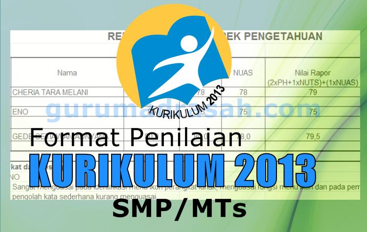 Format Rekap Penilaian K 13 Smp Mts Aspek Pengetahuan Revisi 2017