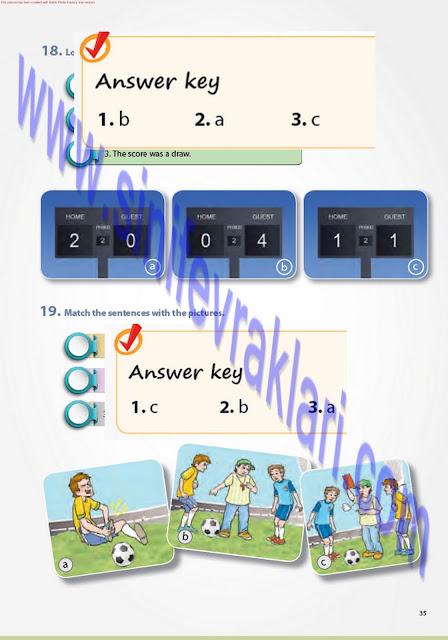 7. Sınıf Pantera Yayınları İngilizce Ders Kitabı Cevapları Sayfa 35