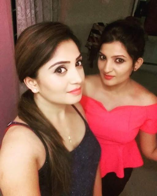 Karunya Ram and sister Samruddhi Ram