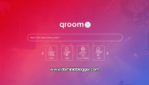musica online ilimitada y gratuita con Qroom