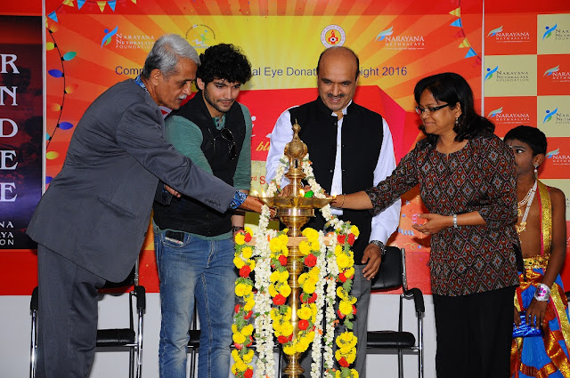 Mr. Krishna, Mr. Diganth, Dr. K. Bhujang Shetty Mrs. Maya Lighting Lamp