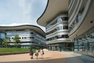 The futuristic Luigi Einaudi Campus of the University of Turin dominates the Vanchiglia neighbourhood