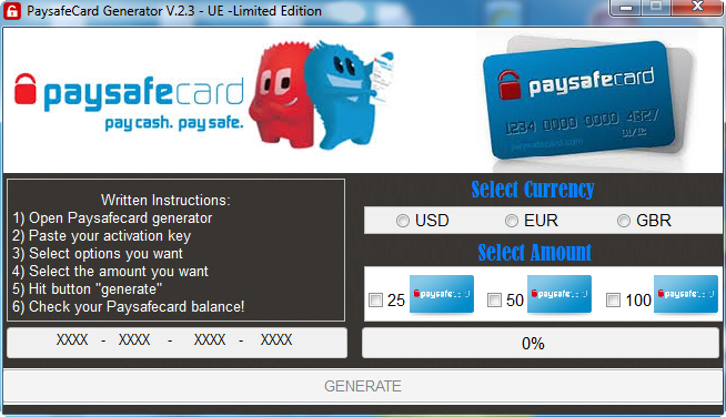 Paysafecard Generator Download