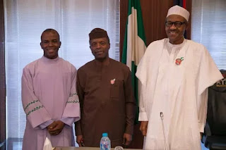 Father Mbaka Pays Visits to President Buhari and Osibanjo at Abuja