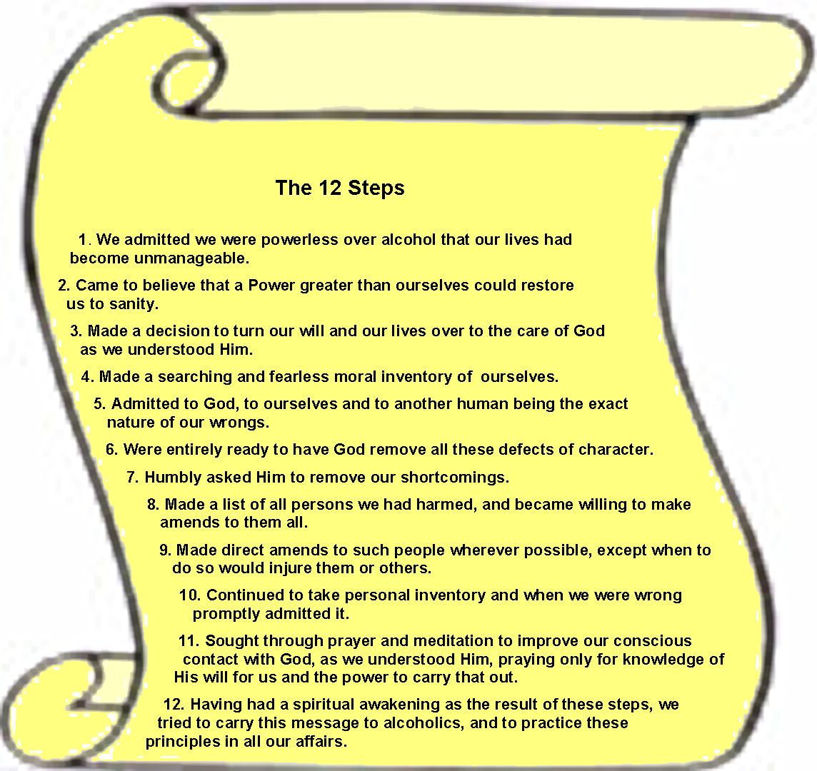 Alcoholics Anonymous Pune The 12 Steps