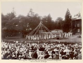 Dancing the maypole, 1909