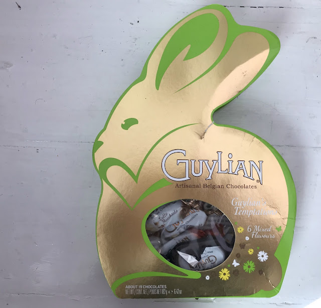 Guylian chocolates in a gold Easter bunny box