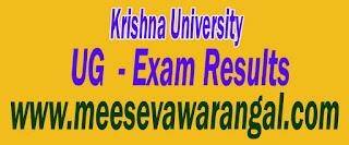 Krishna University UG Final Year March Exam Results
