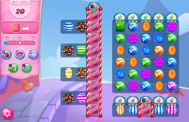 Candy Crush Saga level 6993