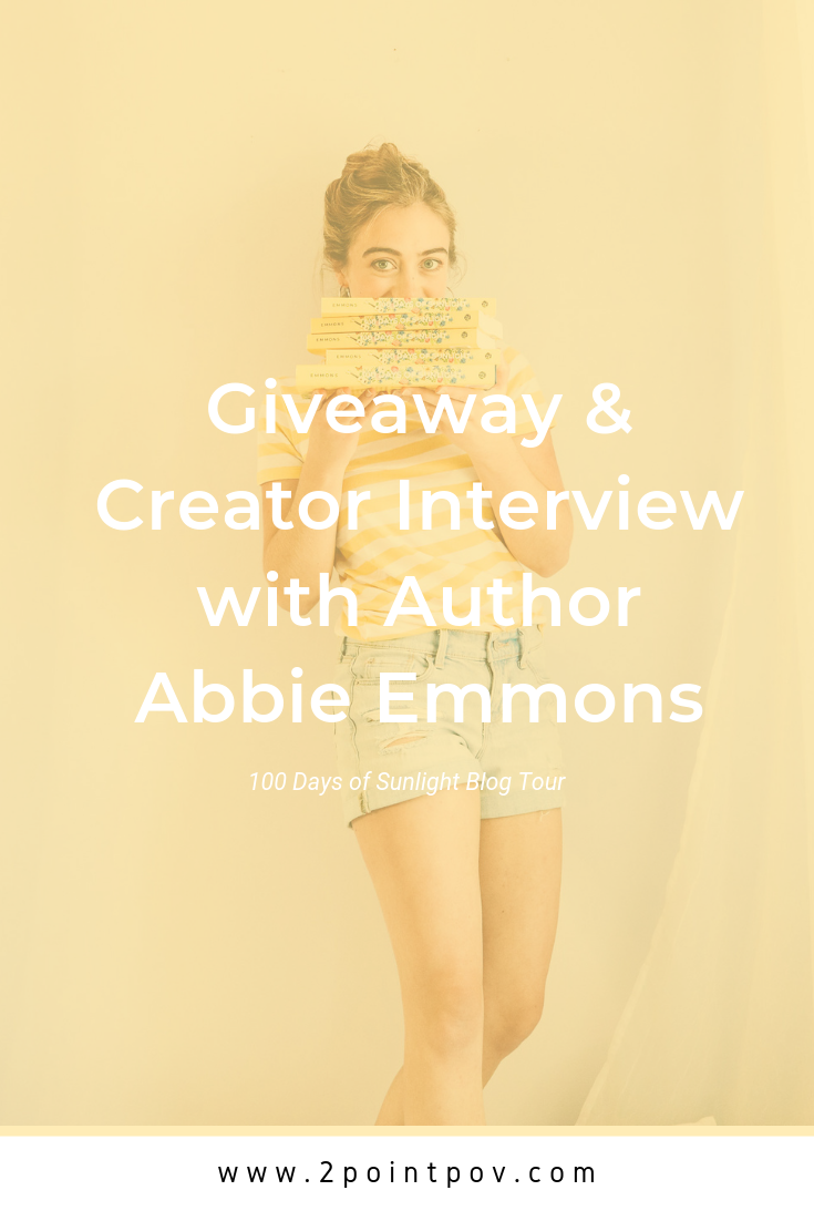 100 Days of Sunlight Blog Tour | GIVEAWAY & Creator Interview with Author Abbie Emmons