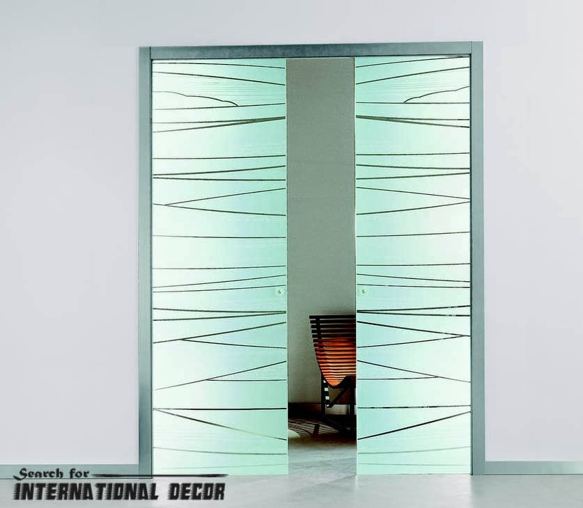 Architecture decoration top designs interior sliding - Contemporary glass doors interior ...